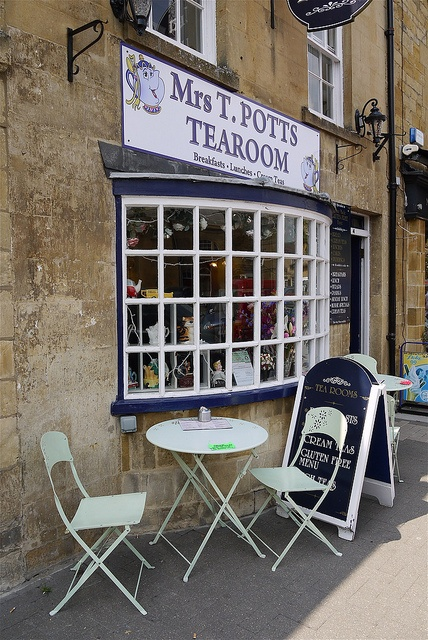 Mrs T Potts Tea Room, Moreton In Marsh, Gloucestershire. Our hotel was just across the street and up a couple of shops from Mrs. T. Potts.