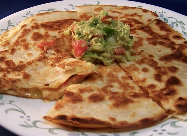 Healthy Chicken Quesadillas from Food.com: This looked so good that I thought I would share it with all of you and at the same time keep it here for safekeeping. This is Wen Zientek's of ivillage.com answer to a question from a reader.