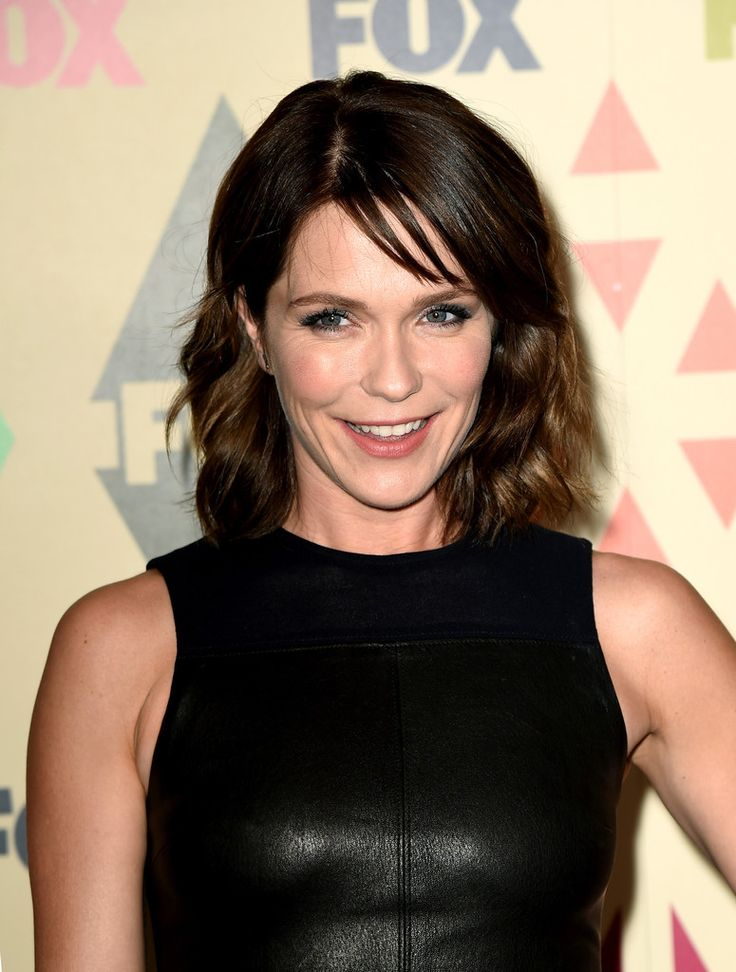 Katie Aselton Medium Wavy Cut with Bangs