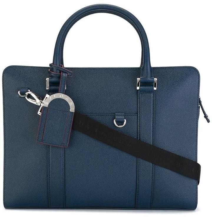 Bulgari double strap briefcase