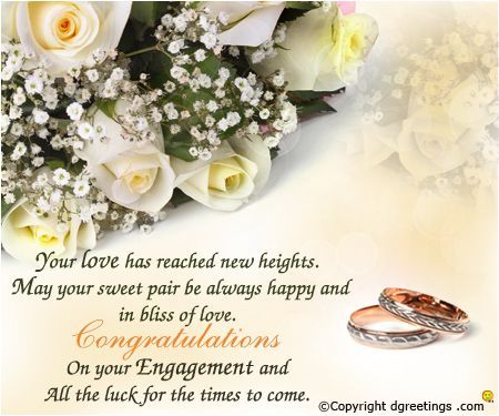 Your love has reached new heights.Engagement Congratulations Flower Card
