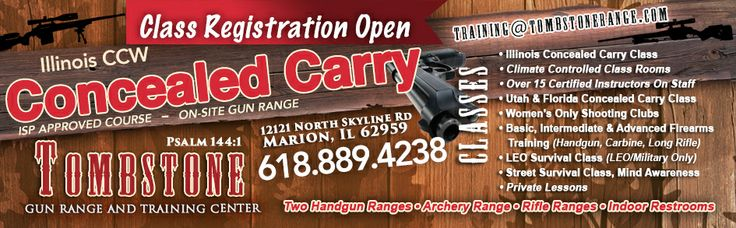 Illinois concealed carry firearms instruction gun safety www.tombstonerange.com