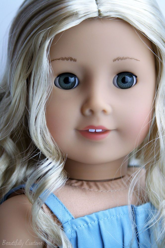 Caroline With Grey Eyes Custom American Girl Dolls