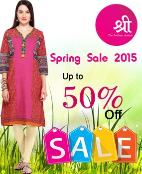 We bring to you the #Good #Friday #Weekend Sale. Enjoy up to 50% on your #favorite #kurti brand Shree!