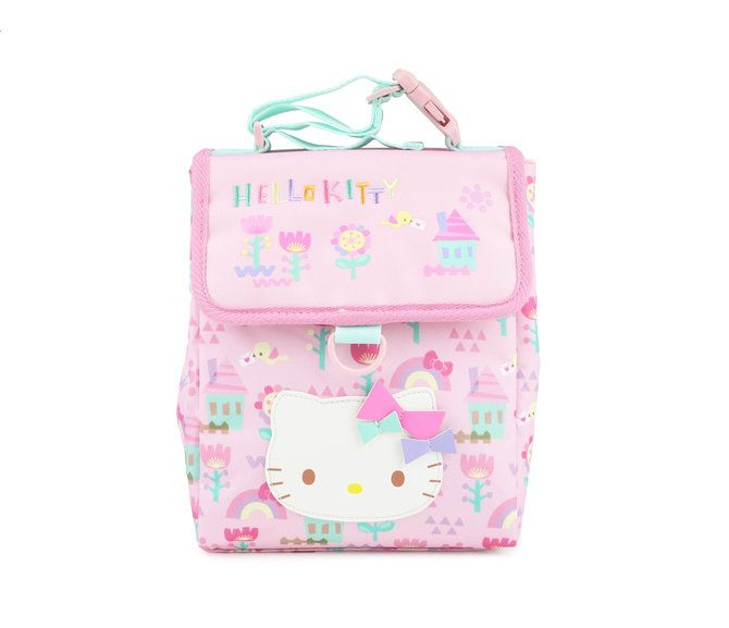 Check out the cute retro design on this Hello Kitty Lunch Bag! Features a  large 139112ed3dc58