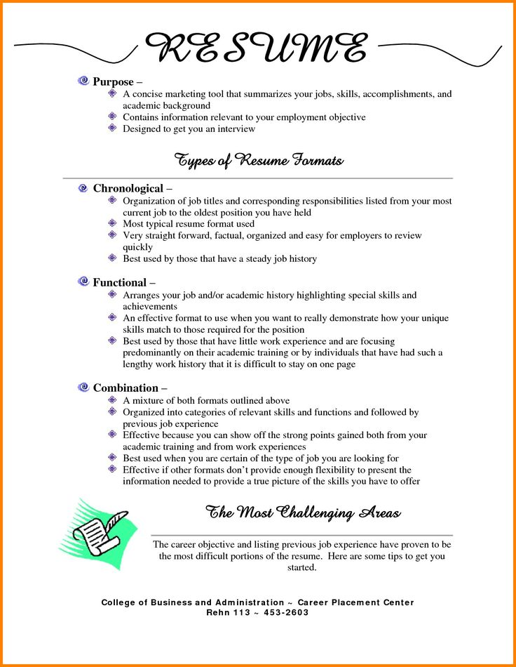 7 Different Resume Formats Job resume examples, Resume