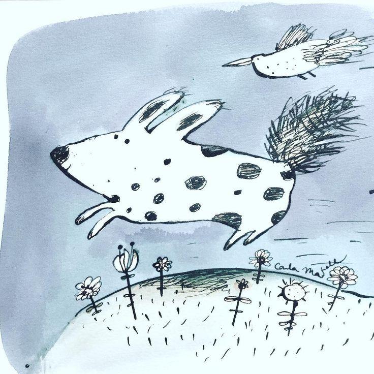 Running dog illustration | Carla Martell