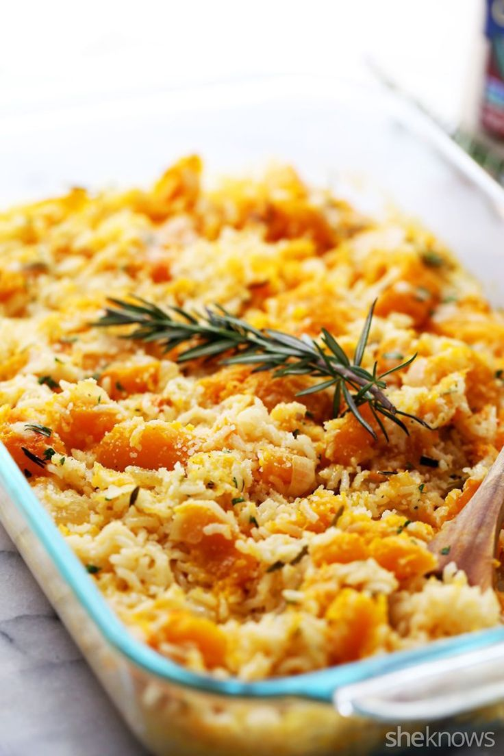 Vegetarian Butternut Squash and Organic Texmati® White rice Casserole tastes like fall. Thanks to our blogger friends at @diethood and @sheknows.