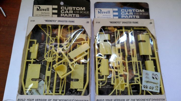 Revell Custom Car Parts 1 25 Mooneyes Dragster Frame Vintage New in Package Two   eBay