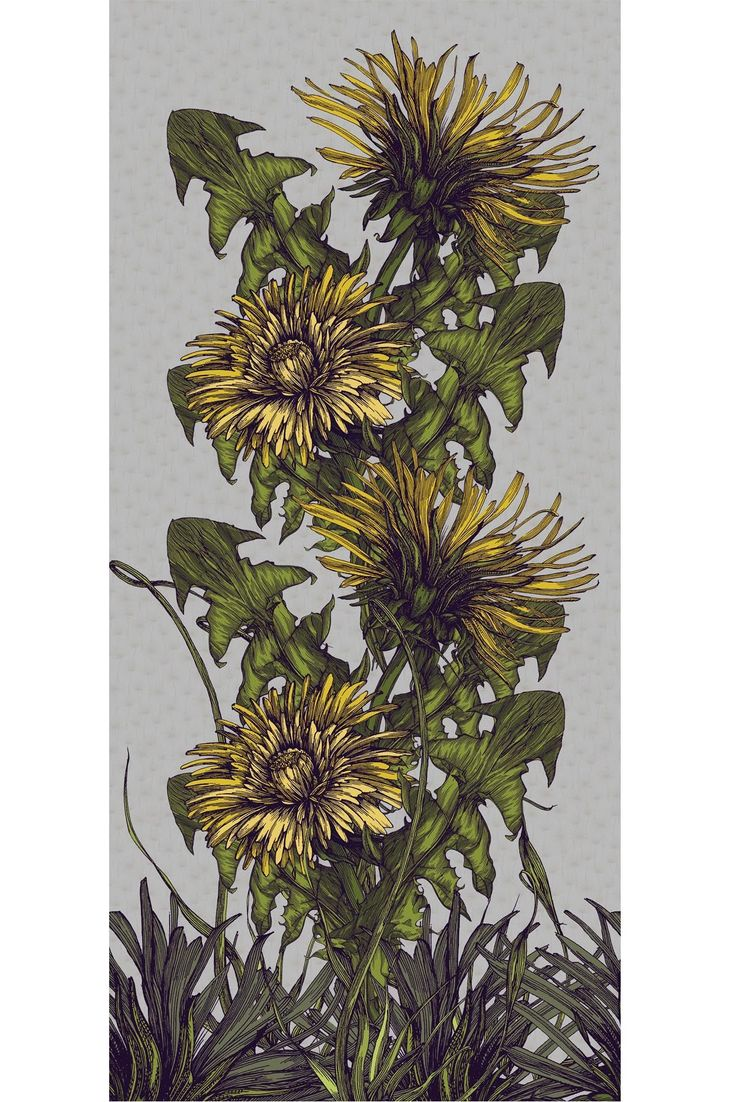 Timorous Beasties Fabric - Dandelion