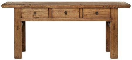 Beachwood Furniture - Antique Mongolian elm three drawer hall table