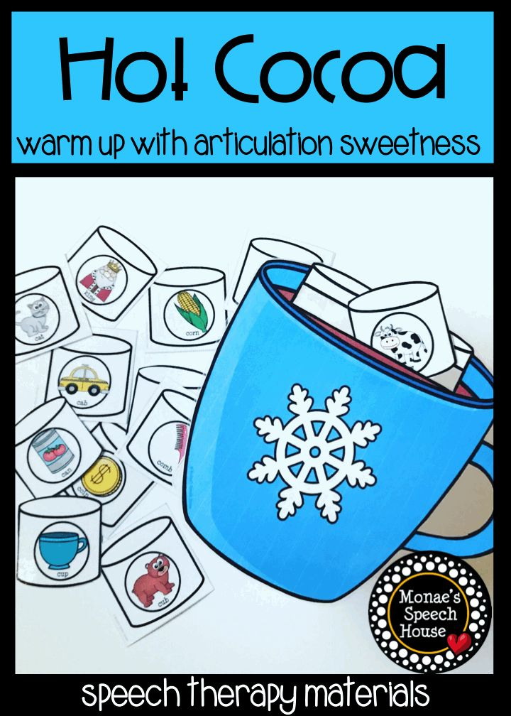 """This SUPER FUN HOT COCOA FOR /k/ and /g/, initial, medial and final """"SH"""" and **BONUS COMPLEX /s/ blends will give you and your students lots of opportunities to work on speech sounds WHILE HAVING TONS OF FUN! Speech therapy materials for articulation and phonology fun. Perfect for SLPs, special education."""