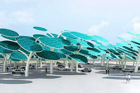 Solar Powered Forest - find more cool solar charging stations here -http://www.mysolarquotes.co.nz/blog/future-of-solar-power/the-coolest-solar-power-car-charging-station-designs