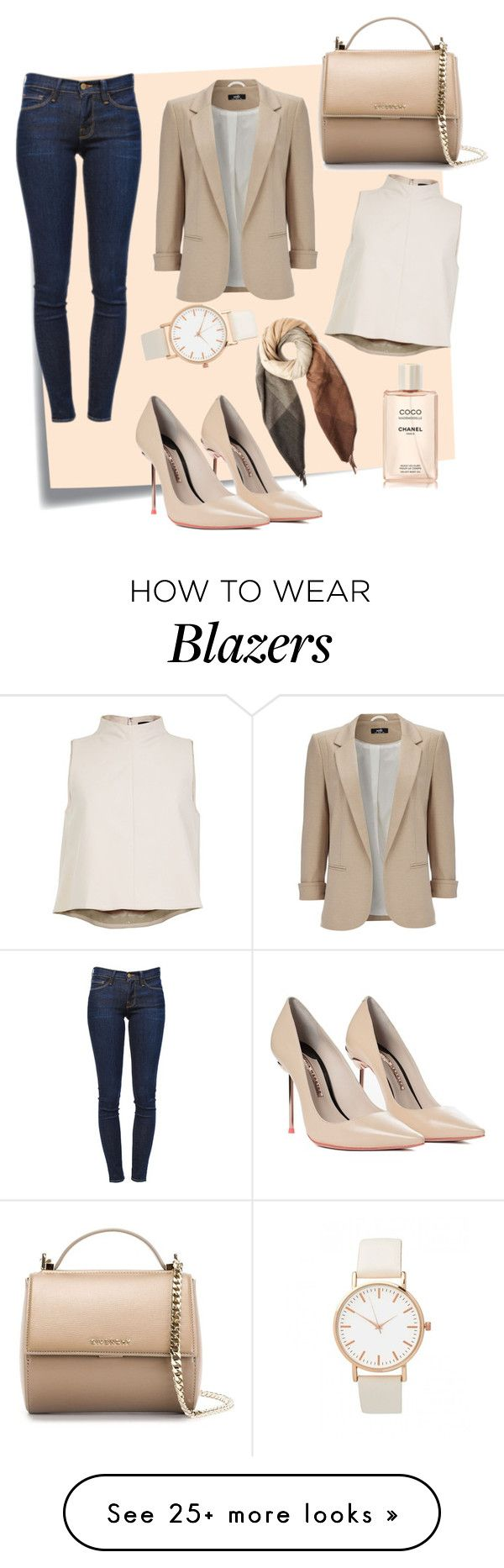 """#oufit for work#"" by edytamurselovic on Polyvore featuring moda, Post-It, Sophia Webster, Givenchy, Paul Smith, Wallis, TIBI e Frame Denim"