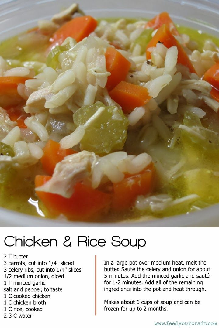 chicken and rice soup recipe- now that it's getting colder, I'm gonna be eating a lot more soup
