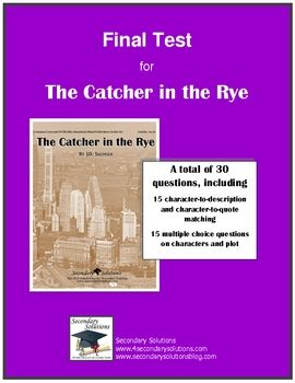 catcher in the rye reading guide