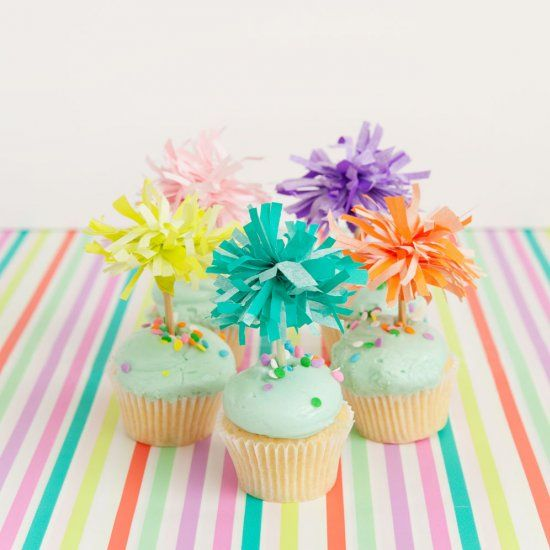 These colorful cupcake toppers are not only easy to make but so cheap!