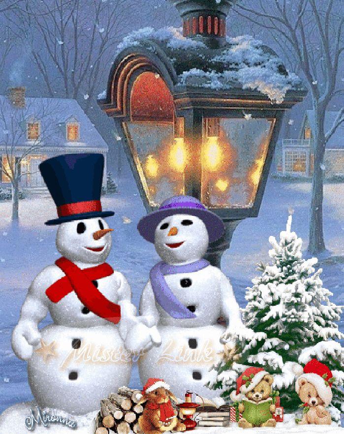 Snowman kissing ☃☃