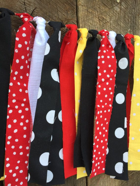 Mickey Mouse Fabric Banner Disney Party Child's Room