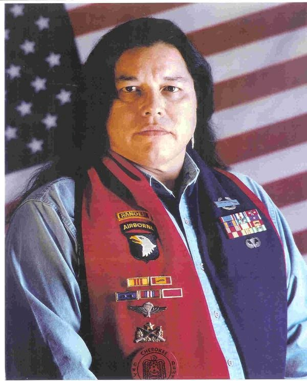 Billy Walkabout, 1949 - 2007 an Oklahoma Cherokee, was awarded the Distinguished Service Cross, the Silver Star 5 awards, one upgraded to DSC, the Bronze Star 10 awards, the Purple Heart 6 awards, and the Army Commendation Medal