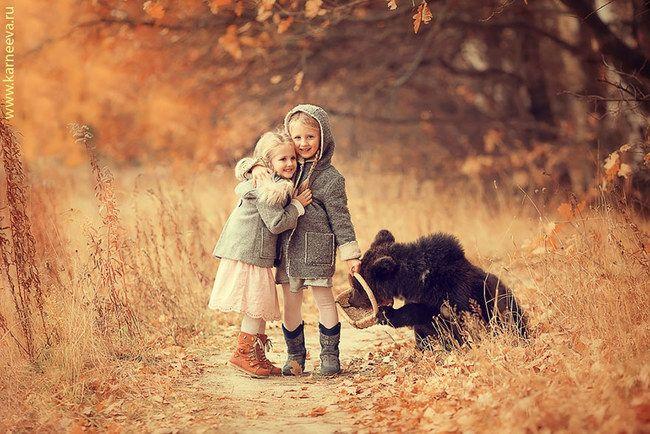 Dzikie zwierzęta najlepszymi przyjaciółmi dzieci.