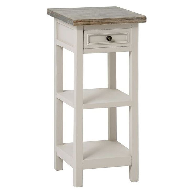 Studley 1 Drawer Plant Table, Mushroom Grey