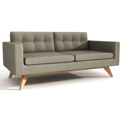 True Modern Luna Loveseat Sofa. Perfect wedding registry gift for newlyweds.