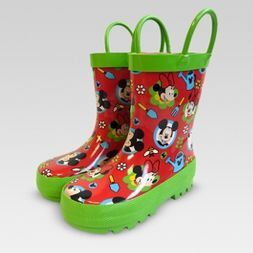 Size 5/6 Mickey Mouse & Friends Garden Boots - Red - Disney