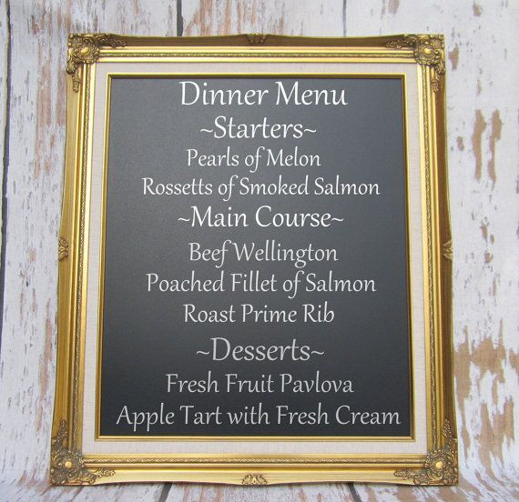 Chalkboard Wedding Sign For Menu Board Magnetic French Country Home Kitchen Chalk Decorative Black