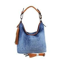JEANS DA DONNA BORSA A TRACOLLA HOBO-Bag Canvas STRASS PIETRE HENKEL Borsa Bag: EUR 29,90End Date: 07-ago 19:35Buy It Now for only: US EUR…