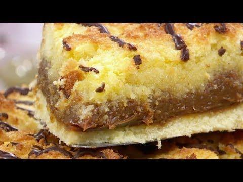 Tarta de coco, dulce de leche y hilos de chocolate - Recetas – Cocineros Argentinos
