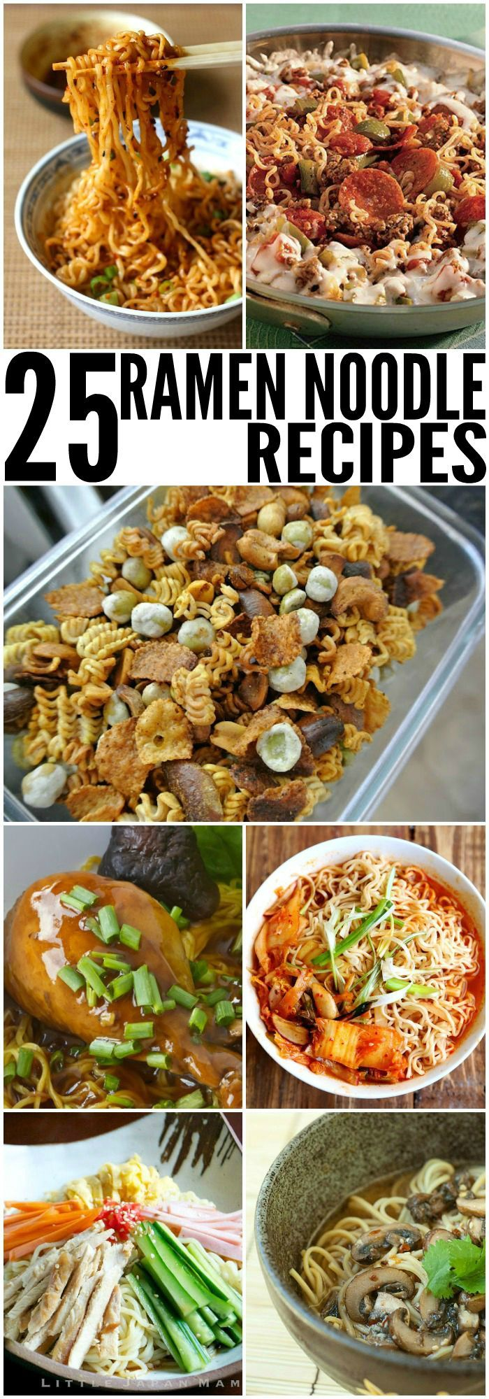 25 Ramen Noodle Recipes. So yummy! Ramen is what's for dinner!
