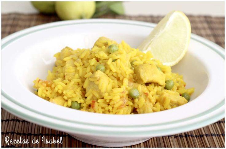 Receta de arroz con pollo rico y sabroso.
