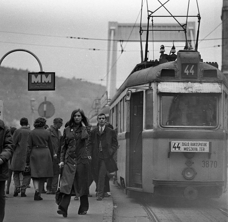 UV villamos a Rákóczi úton, 1972-ben