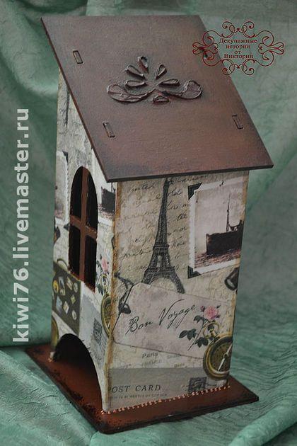 """Кухня ручной работы. Ярмарка Мастеров - ручная работа. Купить Чайный домик """"Моя Франция"""". Handmade. Декупаж, кухня, Франция"""
