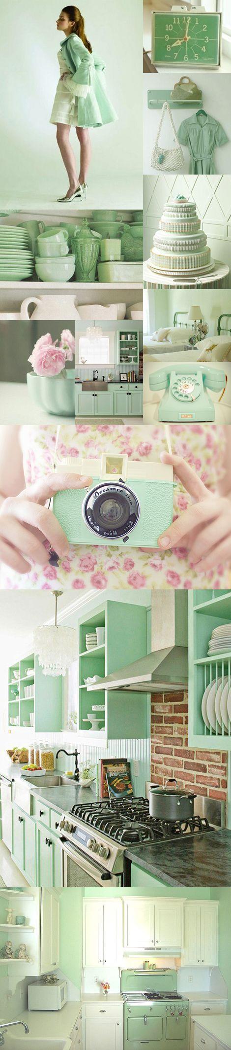 Mint green color trend interior deco woonblog
