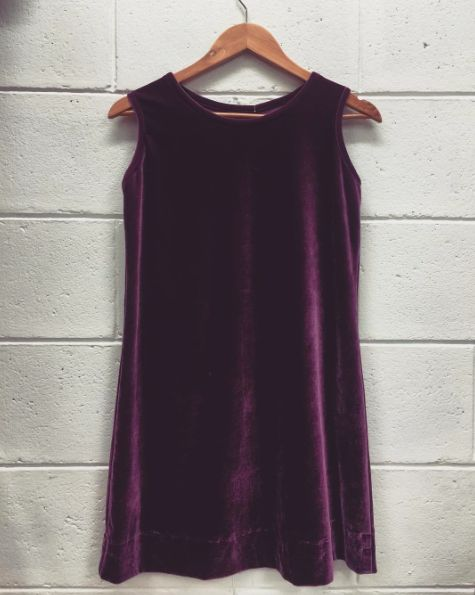 Love this little piece of vintage velvet - part of our Vintage Edit launching next week in store...size 8/10  #Fashion#fashionblogger#style#styleblogger#blog#bohemian#boho#bohochic#boholuxe#gypsy#gypset#retro#vintage#style#bohostyle#freespirit#shop#vintage#edit#curated#collection#purple#plum#winter#shift#dress