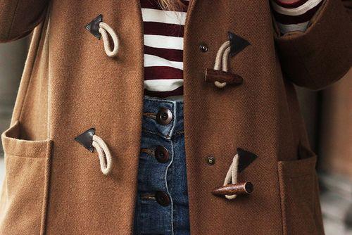 Brown coat details #style #clothes