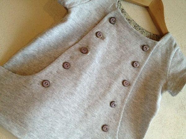 Junebug - robe à poches et rabat boutonné
