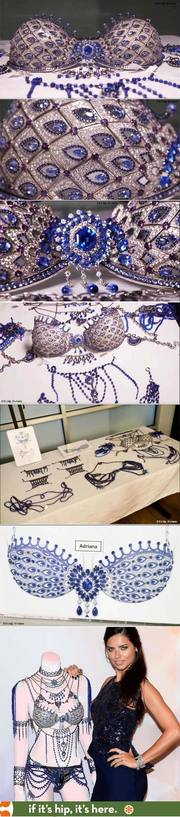 A close-up look at the amazing $2 million Sapphire Fantasy Bra by Mouawad for Victoria's Secret at http://www.ifitshipitshere.com/forget-boobs-look-bras-2014-fantasy-bras-mouawad-victorias-secret/