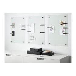 IKEA - KLUDD, Noticeboard, Preferably use whiteboard pens as they are easy to wipe off.Can be hung horizontally or vertically.