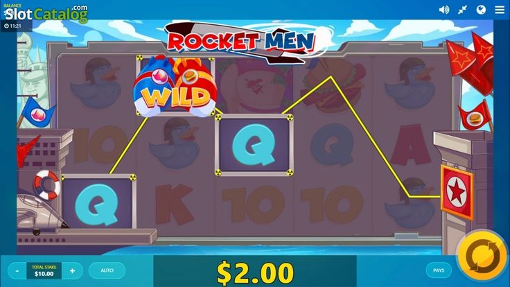 Wild Win screen. Rocket Man(Video SlotfromRed Tiger)