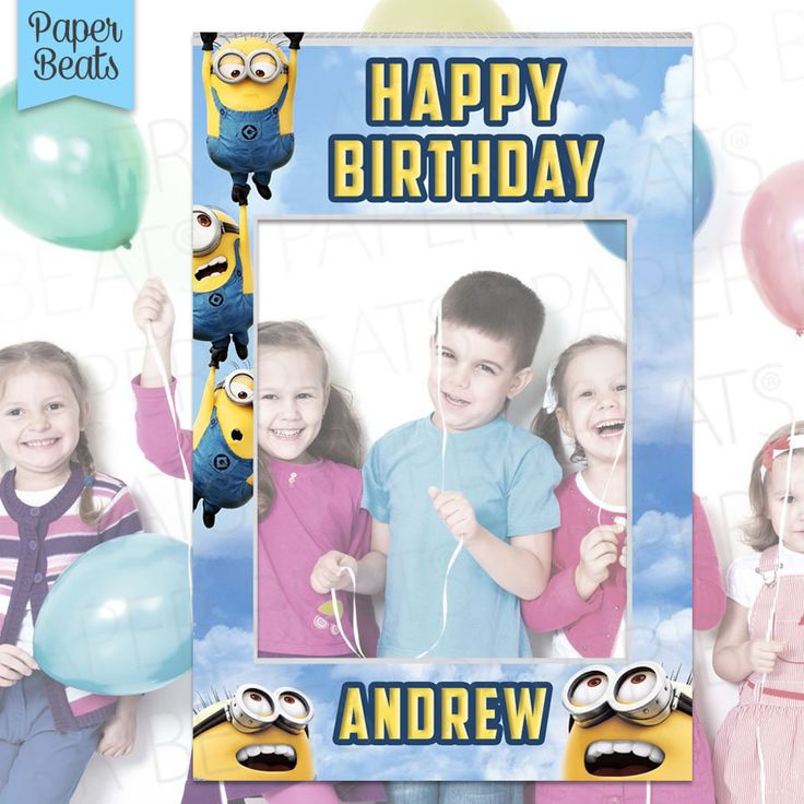 Minions Photo Booth - Minions Party Theme - Photo Zone - Birthday photo booth - Digital file - Minions Photo Prop - Marco para Fotos by PAPERBEATS on Etsy