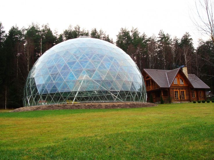 Dome of Merkinė – aluminium and glass construction pavilion