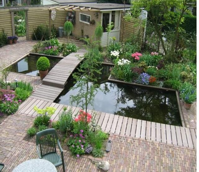 63 best images about pond lago on pinterest garden for Deck pond ideas