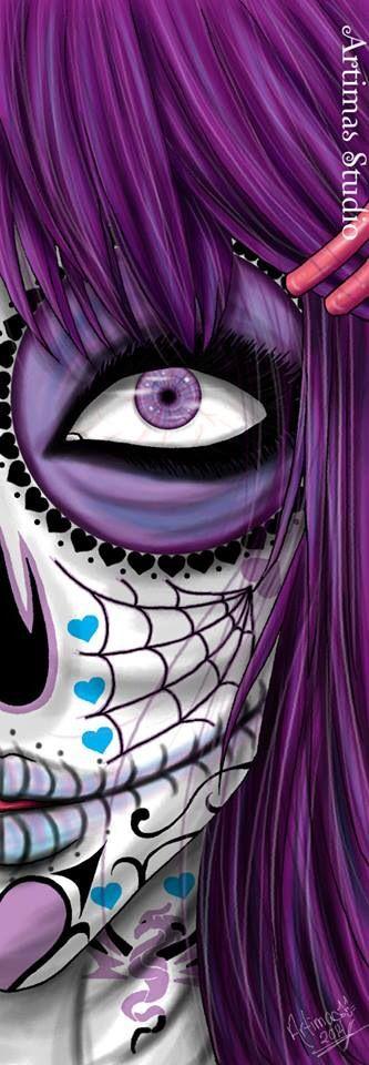 Purple Death bookmark for sale