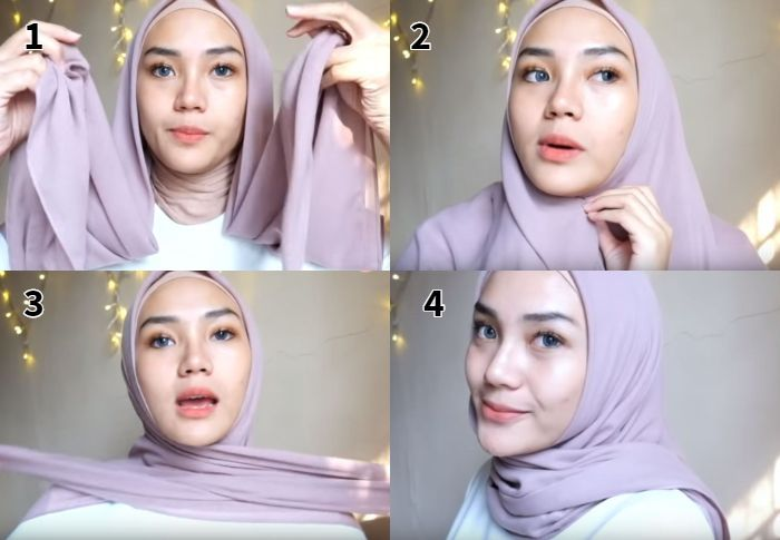 Tutorial Hijab Segi Empat Bella Square