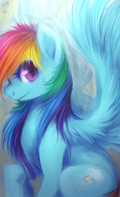 My Favorite RD speed painting  by *tiaamaito    Link: http://tiaamaito.deviantart.com/art/rainbow-dash-300076846