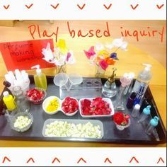 """The perfume making workshop from play based inquiry ("""",)"""
