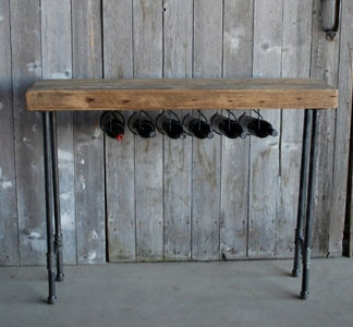 Reclaimed wine bar.